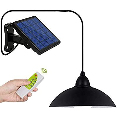 DiDi DENG Solar Pendant Lights Outdoor Hanging Shed Lamp Remote Brightness Adjustment Barn LED for Kitchen Garden Yard Patio Balcony Home Auto On/Off