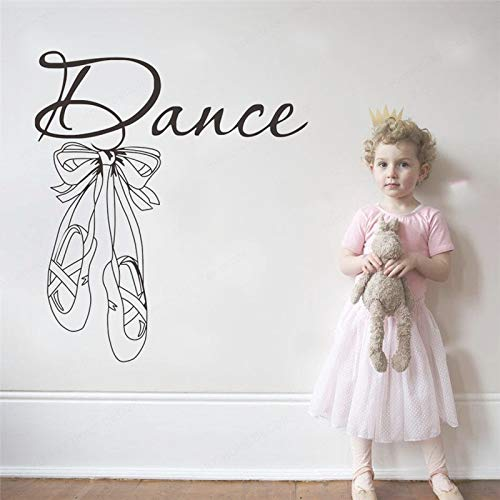 Ajcwhml dance wall stickers Ballet shoes dancer gym girls bedroom for Interior home Decoration Wall Art Sticker decals for nursery 36x42cm