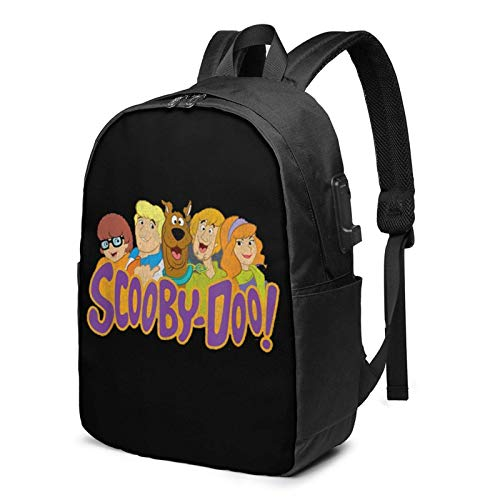 Yaxinduobao ScoobyDoo Scooby Gang Backpack Computer Backpack Travel Bag for Business Trip Large Capacity 17 Inch with USB Interface