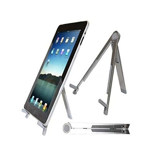 Durshani Stand Leggero Portatile Piegabile Ideale per iPad Notebook Portatili Netbook PC - Color Argento by
