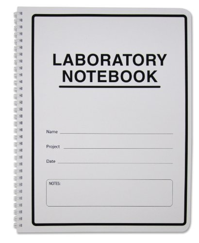 "BookFactory Carbonless Lab Notebook (Scientific Grid Format) - 8.5"" x 11"", 50 Sets of Pages, 100 Sheets Total - Duplicator [Wire-O Bound] (LAB-050-WTG-D)"