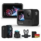 【国内正規品】GoPro HERO9 Black アクションカメラ ゴープロ 水中カメラ 人気アクションカム (GoPro HERO9Black +認定SDカード(64GB)+デュアルバッテリーチャージャー+予備バッテリー+チェスティ)