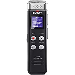 Upgraded Recording Quality: new design digital voice recorder, dynamic noise cancellation microphone, capture 1536kbps crystal clear audio Voice Recorder Easy Transfer File to Computer : this mini recorder device can set recording quality at MP3 (128...