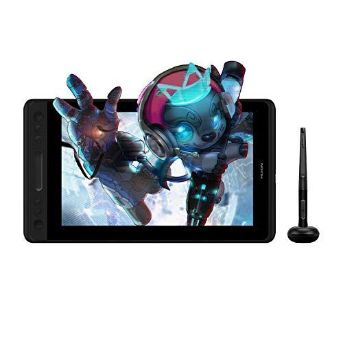 HUION Kamvas Pro 12 Pantalla Full HD Gráficos Dibujo Tableta Monitor Pantalla con rotulador Sin batería 8192 Sensibilidad con función de inclinación Pantalla con rotulador gráfico