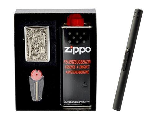 Zippo Revolver Emblem im Set Regalo incluso Accendigas