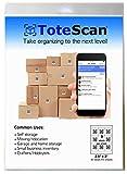 ToteScan Intelligent QR Labels for organizing & Storage (45 Unique Labels, 2.5'x3')