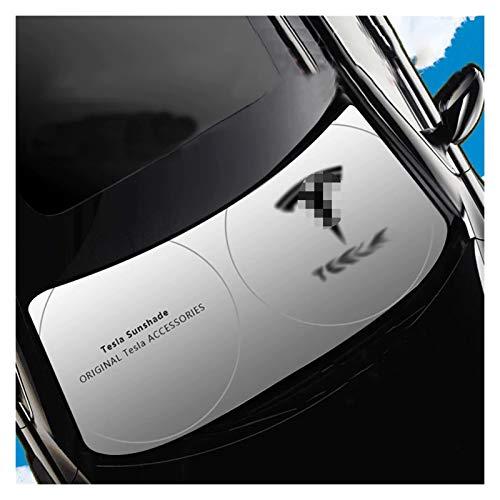 Parasol Coche Pantalla de estilos de auto Sombrilla de parabrisas ABAT ABAT VENTA DE VENTANA FRENTE VENTANA UV Protector resistente al sol Decoración de la sombra Compatible con Tesla Modelo 3 Modelo