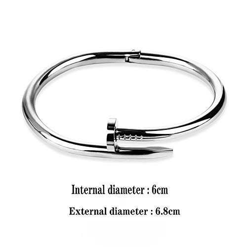 Lnyy Titan Stahl Paar Armband Persönlichkeit Nagel Armband Schmuck Geschenk