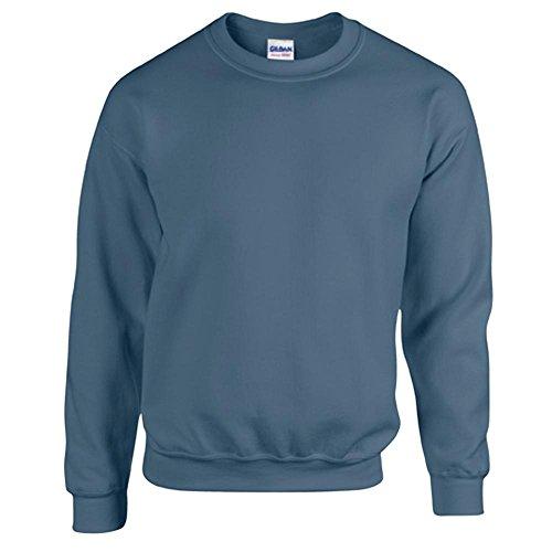 Gildan Heavy Blend Erwachsenen Crewneck Sweatshirt 18000 M, Indigo Blue