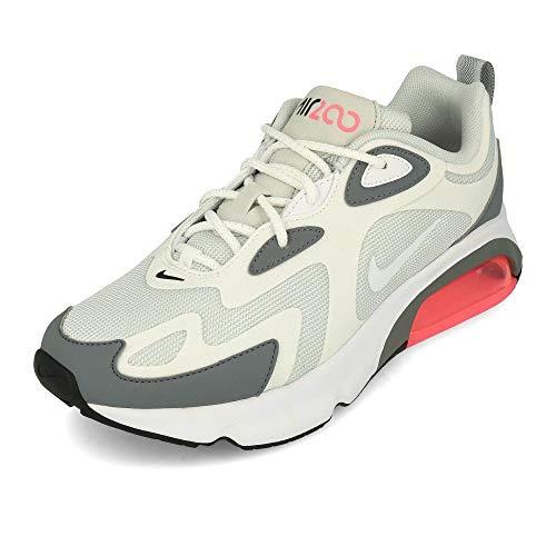 Nike Damen W AIR MAX 200 Laufschuhe, Grigio Pure Platinum White Cool Grey 004, 40.5 EU