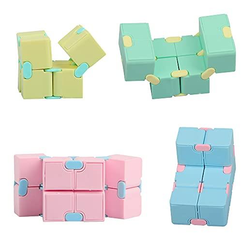 ZoneYan Cubo Infinito, Cubo Infinito Fidget Toy, Fidget Toy Cubo, Juguete de Descompresión, Juguetes Antiestres, Infinity Cube Toy, Stress Relief Rompecabezas para Niños Adultos