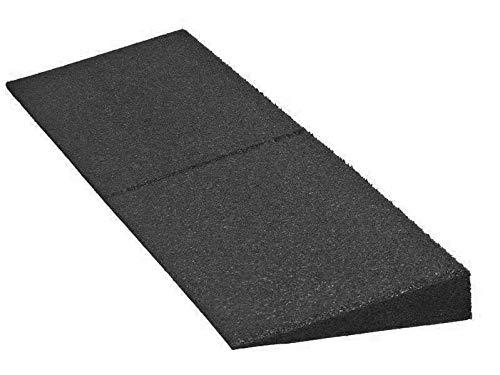 Bordsteinrampe aus Gummi | 1000 x 250 x 30 bis 110 mm | Türschwellenrampe | Schwellenrampe, Bordsteinrampe für Auto, Garage (1000 x 300 x 75 mm)