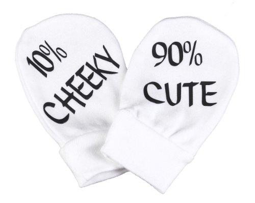 Spoilt Rotten SR - Cute & Cheeky 100% de cama de algodón - bebé de resistente a los arañazos guantes de Baby Gloves