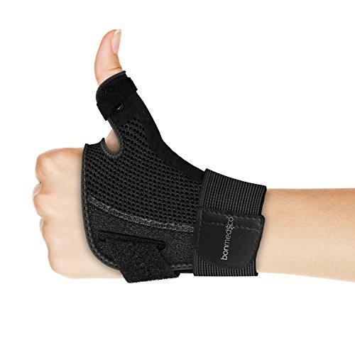 bonmedico Forte Férula Flexible para el Pulgar y Para la Articulación, Negro