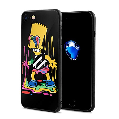 FangNer The Simpsons Suitable for iPhone 7 and iPhone 8 4.7-Inch, Anti-Scratch Cases Shock-Absorption Bumper Cover.