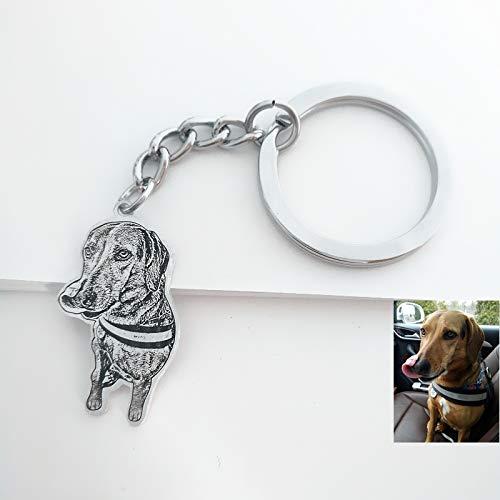 Custom Dog Key Ring Leather Key Dog Custom Dog Photo KeyChain Photo Key Chain Personalized Leather Key Chain Pocket Photo Album