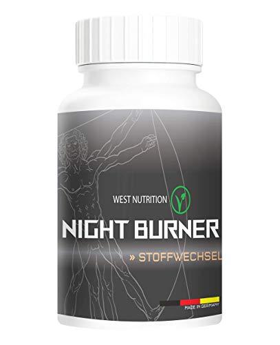 West Nutrition extrem stark NIGHT BURN Pillen - natürliche Inhaltstoffe, STOFFWECHSEL - geeignet für Männer und Frauen vegan Nahrungsergänzungsmittel