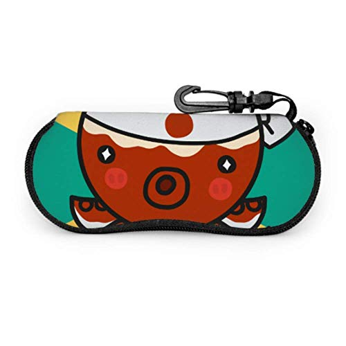 Estuche de gafas con mosquetón Comida japonesa Takoyaki Octopus Cartoon Ultra ligero...