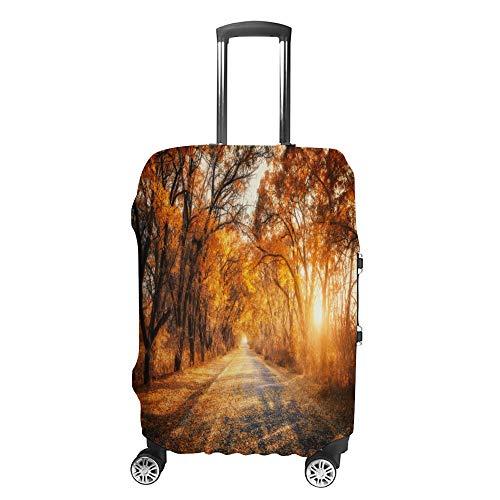 Cubierta de equipaje de viaje antiarañazos, funda protectora de equipaje, funda de otoño bosque ajuste lavable, accesorios a prueba de polvo
