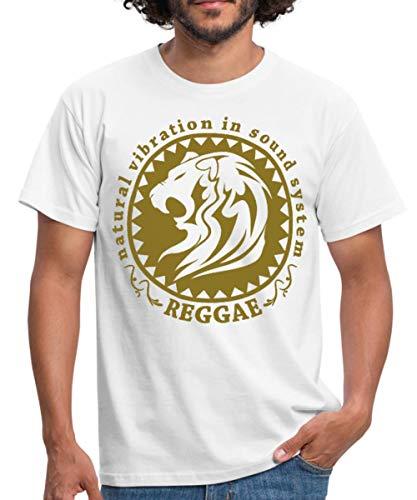 Natural Vibration in Sound System Reggae Männer T-Shirt, XL, Weiß