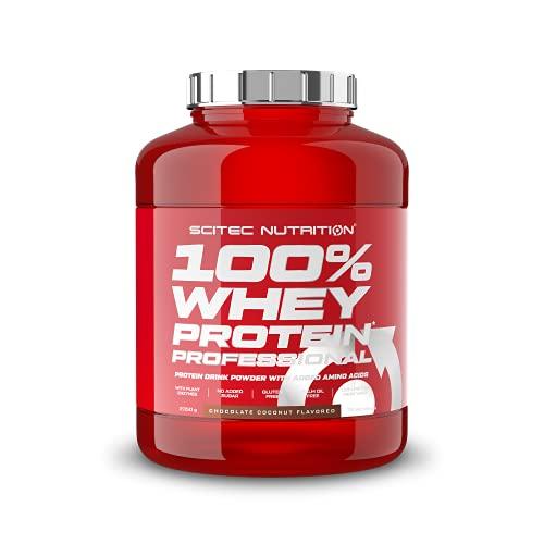 Scitec Nutrition 100% Whey Protein Professional con aminoácidos clave y enzimas digestivas adicionales, sin gluten, 2.35 kg, Chocolate-Coco