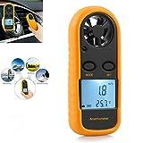 Maso anemometro digitale LCD, retroilluminato, misuratore di velocità del vento, misuratore di...