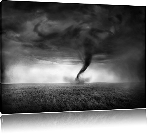 Pixxprint Naturgewalt Tornado / 60x40cm Leinwandbild bespannt auf Holzrahmen/Wandbild Kunstdruck Dekoration