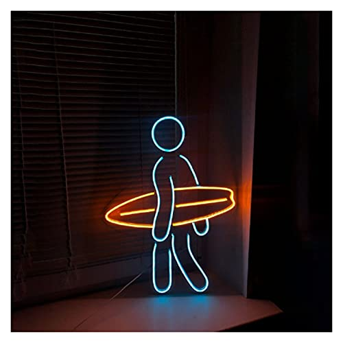 Ideal Custom Shop Signo de neón de Tabla de Surf Personalizada, Transparente DIRIGIÓ Ventana de Pared Colgando decoración acrílica, Poder o USB Decoración de Luces de neón Alimentado