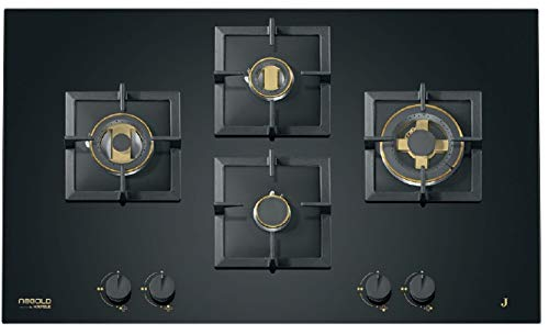 Hafele ORO 90-5 Supernova Powerful Brass Burner Gas Hob, Stove with Auto Ignition, 5 Burners with Flame Failure Safety Device - 90 cm