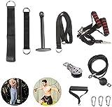 Poleas Gimnasio para Casa, Fitness DIY Polea Cable Máquina de musculacion Entrenamiento de Fuerza del Brazo Cuerda Triceps Gym Accesorio de Entrenamiento para Antebrazos (220-320 Libras)