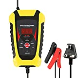 Keyohome Car Battery Charger and Maintainer, 6V 12V 3-Stage Intelligent Automatic Battery Charger/Maintainer...