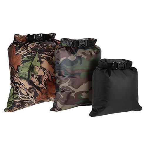 Fesjoy Pack de 3 bolsas impermeables 3L + 5L + 8L bolsas secas ultraligeras compatibles con camping senderismo