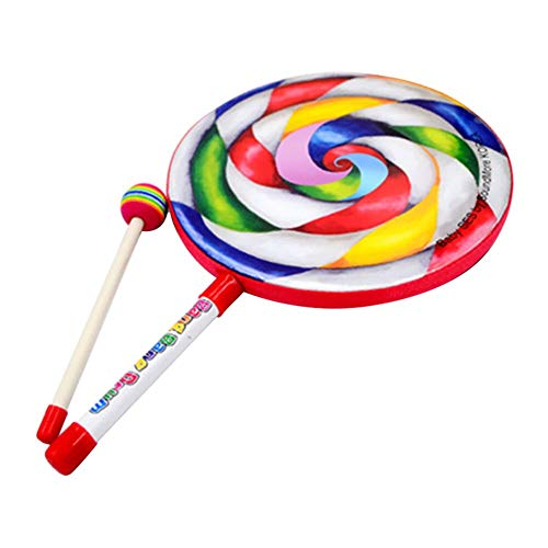 JKMQA dx Toys Lolly Drum Percussion Rainbow Musical Stick Set Early Educational Teaching Aids Give Children Best Enlightenment Toy Gift (Color : C)