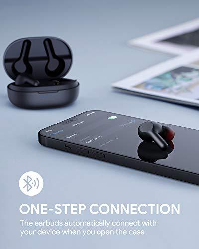 AUKEY Cuffie Bluetooth 5 Bassi Potenziati, Auricolari Senza Fili con Ricarica Rapida USB-C, IPX5 Impermeabili, Riproduzione di 25 Ore Touch Control Microfoni Integrati (Upgraded)