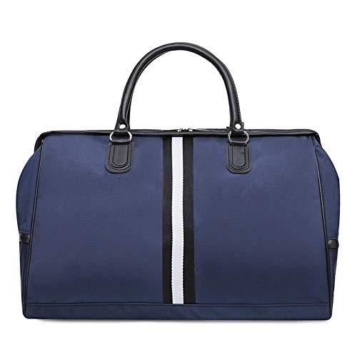 LONGHAIYUAN Women Gym Bag Striped Travel Fitness Bag Yoga Pack Nylon Luggage Handbag