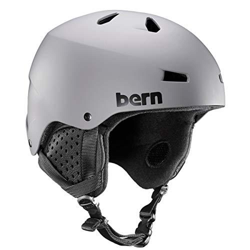 Bern Herren Macon Helm, Grau, matt, L