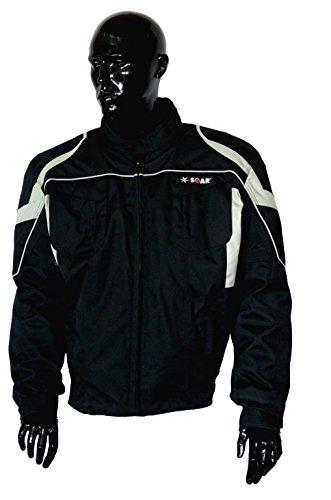 KED SOAR Motorradjacke Taifun black/silver, matt, Größe S, sportlich-elegante Jacke aus Teslan & Cordur
