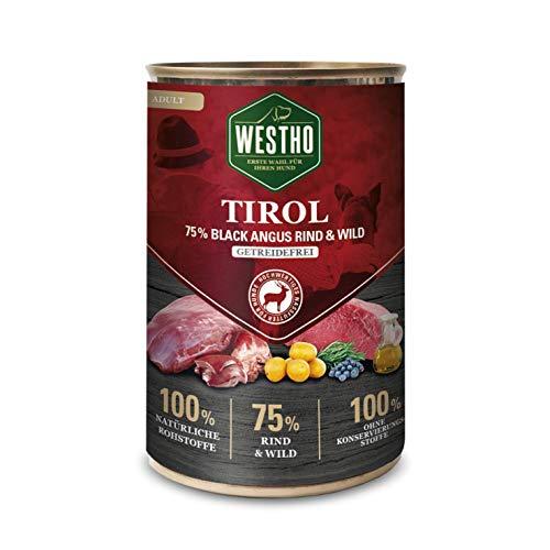 Westho 6 x Tirol 400g (mit 75% Black Angus Rind & Wild)