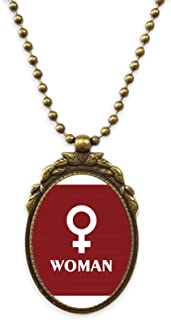Women Happy Science Knowledge Antique Necklace Vintage Bead Pendant Keychain