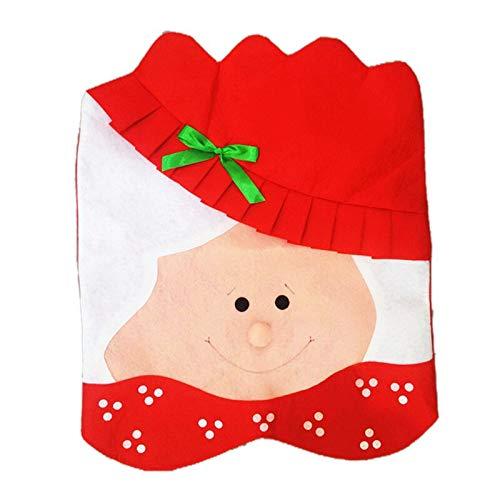 Hopereo Funda para sillas de comedor de Navidad, extraíble, lavable, elástica, para fiestas, suministros de Navidad, decoración para el hogar, 68 x 45 cm.