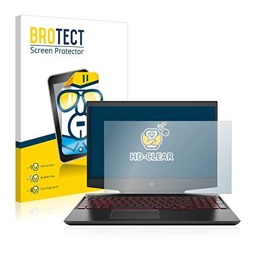 BROTECT Schutzfolie kompatibel mit HP Omen 15-dh0005ng klare Bildschirmschutz-Folie