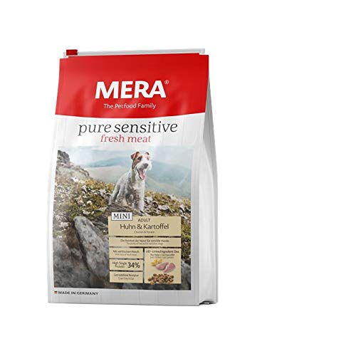 MERA Dog Hundefutter Pure Sensitive Mini Fresh Meat Huhn & Kartoffel, 4 kg