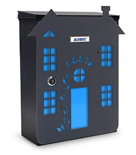Alubox Casa Rostine Briefkasten Mia mit Tür, mehrfarbig, 2 Stück
