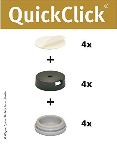 WAGNER QuickClick® Stuhlgleiter I 4er-Set zum Kleben I - HYPER - Durchmesser Ø 20 mm - 15830700