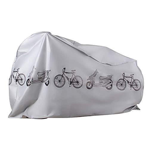 KLAS REMO Protection Vélo,Housse Protection Velo Housse De Velo De Route Bache A Velo Sac De Transport Velo Housse De VTT Housse De Bicyclette Housse pour VTT Anti UV Housse VTT (Gris)