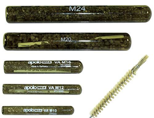 MEA/CELO Mörtelpatrone/Reaktionsanker/Reaktionspatrone M10 bis M24 inclusive SN Reinigungsbürste (Mengenauswahl möglich) (Mörtelpatrone M12, 10 Stück)
