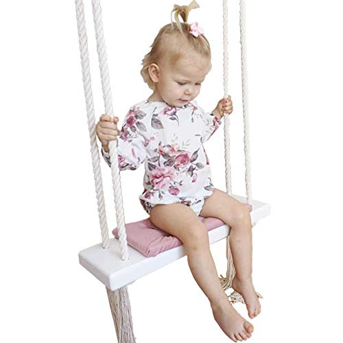 JTYX Silla giratoria para niños Hogar Sillas Colgantes de Interior Asiento de Ocio para niños Decoración de la habitación de los niños,Pink,54X19.5X4CM