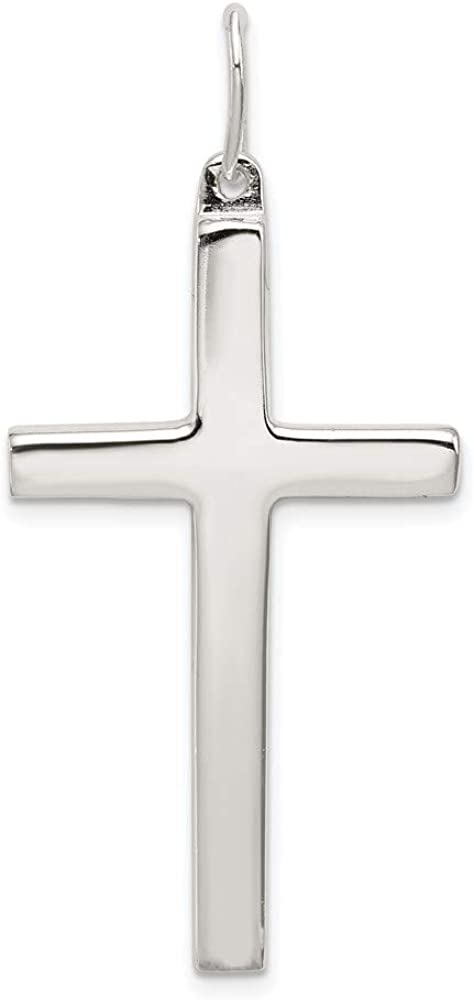Sterling Silver Miami Mall Latin Cross Pendant style 21mm 40mm OFFicial site QC5400