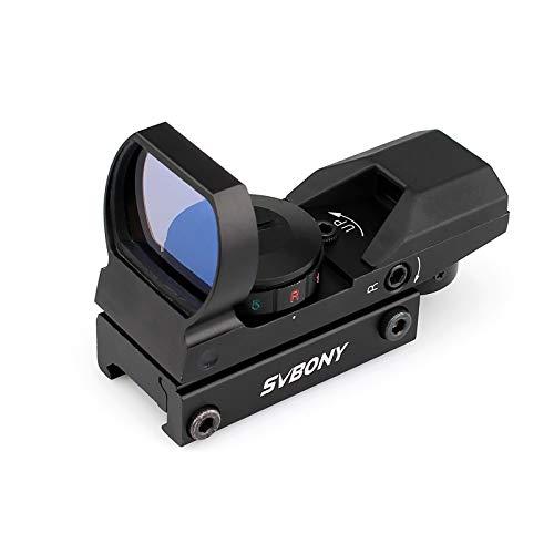 Svbony Punto de Mira, Visor de Punto Rojo, 20/22mm 4 Retículas y 5 Niveles de Brillo Miras Telescópicas para Actividades Deportivas