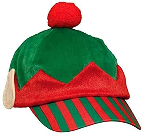 amscan Elf Baseball Fabric Hat | Christmas Accessory
